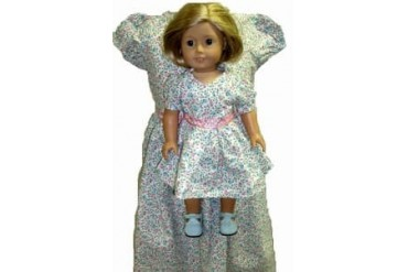 Matching Girl amp Doll Clothes Pink Blue Calico Dress Size 4