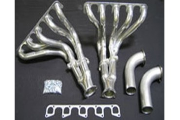 Belanger Mid Pipes with Cats O2 Sensor Extension Kit and Exhaust Headers for Stock 2.5Inch Dodge Viper V10 03-10