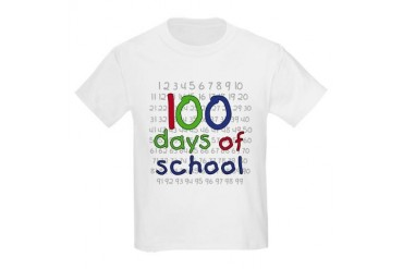 Numbers 100 Days Kids T-Shirt