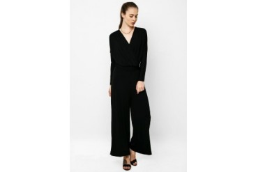 Chic Simple Long Dolman Slv Jumpsuit