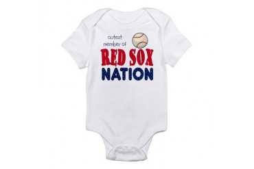 Cutest Member Red Sox Nation Baby Infant Bodysuit