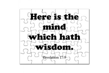 Revelation 17:9 Christian Puzzle by CafePress