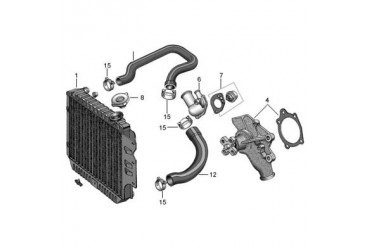 Independent Antique Radiator Replacement 3 Core Radiator for 225 6 Cylinder Engine with Manual Transmission WT-416 Radiator