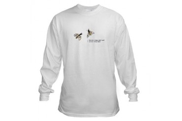 Honey Bee Funny Long Sleeve T-Shirt by CafePress