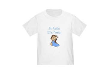 Auntie's Monkey(blue) Toddler T-Shirt