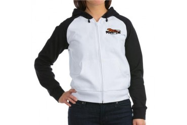 Power Cat Logo Sports Women's Raglan Hoodie by CafePress