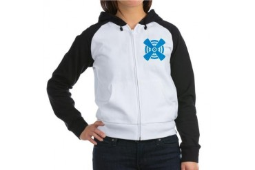 Propeller Logo Women's Raglan Hoodie by CafePress