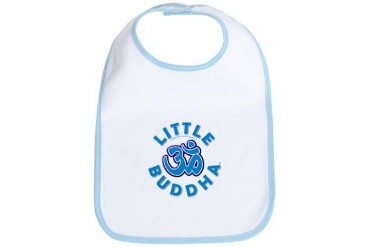 Little Buddha Yoga Symbol Baby Yoga Clothes BL Cute Bib by CafePress