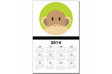 Peekaboo Monkey Animal Calendar Print by CafePress