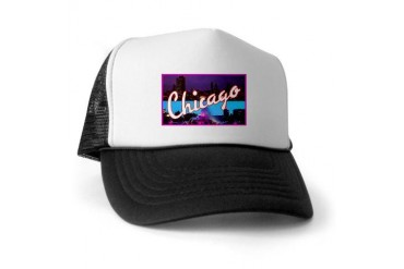 Chicago Illinois Greetings Vintage Trucker Hat by CafePress