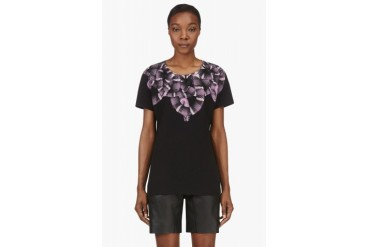 Marcelo Burlon County Of Milan Black And Purple Moon Snake Print T shirt