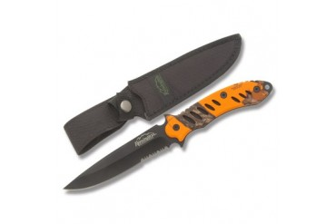 Remington F.A.S.T. Black Finish Fixed Blade with Blaze Orange Mossy Oak Handle