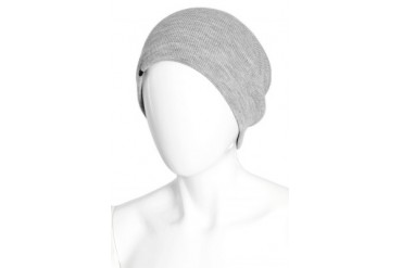 Barca Slouchy Hat with Fleece Lining in Grey - designed by Plush