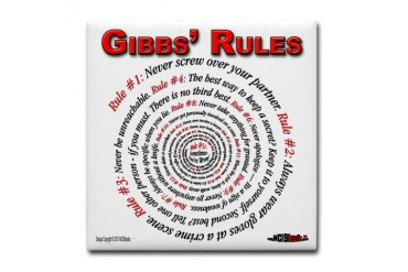 NCIS GIBBS' RULES - Tile Coaster