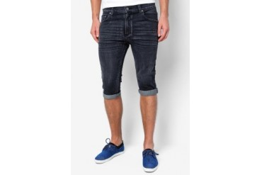 Electro Denim Lab Breakbeat Denim Slim-Fit Bermudas