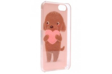 iPhone 5C Brown Puppy with Heart Case