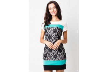 Voerin  Lace Combination Mini Dress