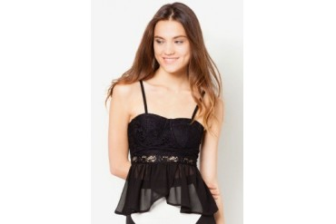 Material Girl Lace Babydoll Top