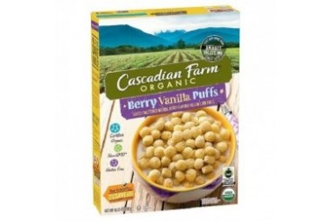 Cascadian Farm Organic Berry Vanilla Puffs Cereal