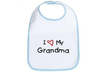 I Love My Grandma Family Bib by CafePress