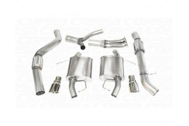 Corsa Polished Sport Cat-Back Exhaust BMW 335i Touring E91 07-12