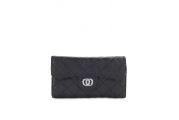 HUER Caresse Quilted Flap Wallet