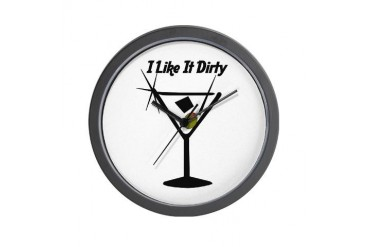 I Like It Dirty Sexy Wall Clock by CafePress