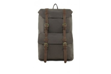 EZRA by ZALORA Nylon Backpack With Leather Trim
