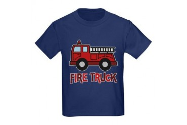 Toy Fire Truck Kids Dark T-Shirt