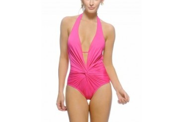 Kenneth Cole 'Ignite the Night' Open Back One Piece Swimsuit Pink, M