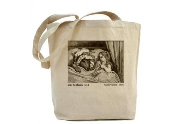 Gustave Dore's Little Red Riding Hood Wolf Tote Bag by CafePress