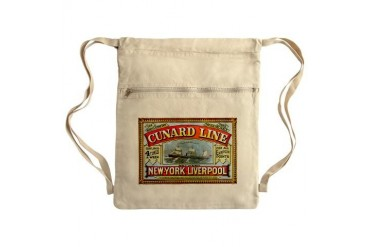 Cunard Line 1875 Sack Pack New york Cinch Sack by CafePress