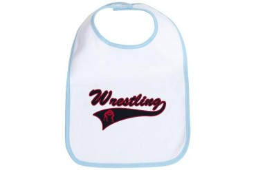 Red and Black Wrestling Sports Bib by CafePress