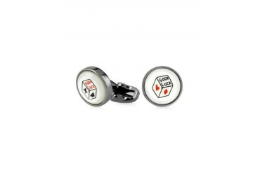 Lucky Dice Mother-of-Pearl Men's Cufflinks