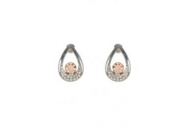 Black Queen Teardrop Diamante Earrings