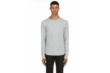 Rag And Bone Grey Raw Edge T shirt