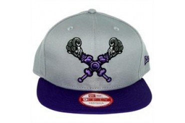 Masters of the Universe He-Man Skeletor Classic Logo Gray 9FIFTY Snapback  Embroidered Hat 53942ed178f3