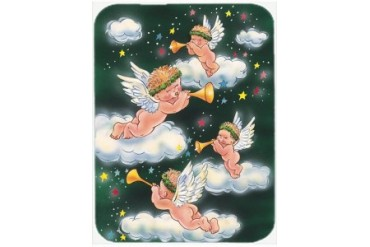 Angels on Green Mouse Pad, Hot Pad or Trivet
