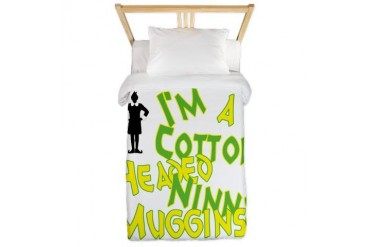Cotton Headed Christmas Twin Duvet by CafePress