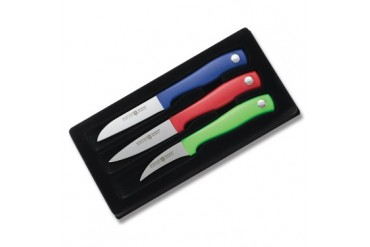 Wsthof Silverpoint II 3pc Colored Paring Knife Set