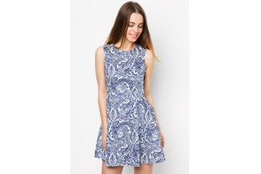EZRA by ZALORA Arch Waist Fit & Flare Dress