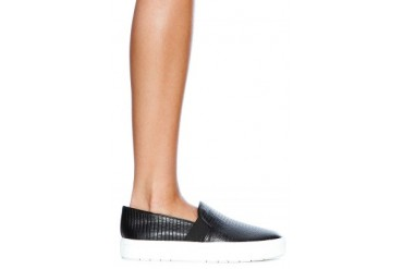 Semi Shine LIzard Print Berlin Sneaker in Black - designed by Vince