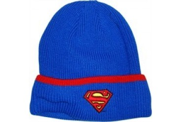 DC Comics Superman Logo Cuff Embroidered Beanie