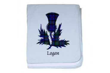 Thistle - Logan Scottish baby blanket by CafePress