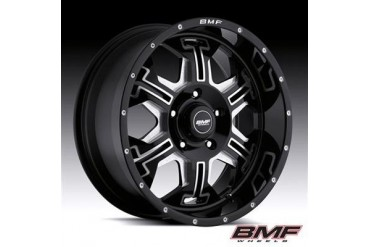 BMF Wheels S.E.R.E, 20x9 with 5 on 150 Bolt Pattern - Death Metal Black and Machined 463B-090515012 BMF Wheels