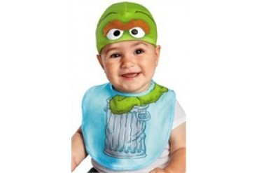 Sesame Street Oscar the Grouch Bib and Beanie Hat Infant Costume