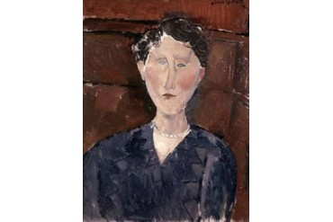 Head of Woman Poster Print by Amedeo Modigliani (22 x 28)