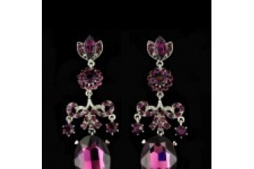 Jim Ball Earrings - Style CE510-Amethyst