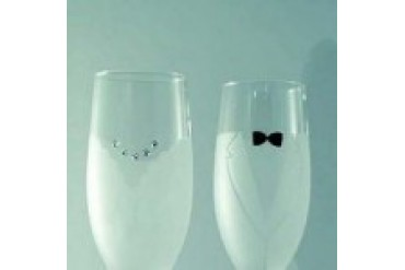 Simply Charming Toasting Glasses - Style TTG125