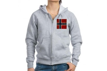 Vintage Norway Flag Vintage Women's Zip Hoodie by CafePress